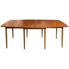 Rare Hans Wegner for Andreas Tuck Drop-Leaf Teak Dining Table