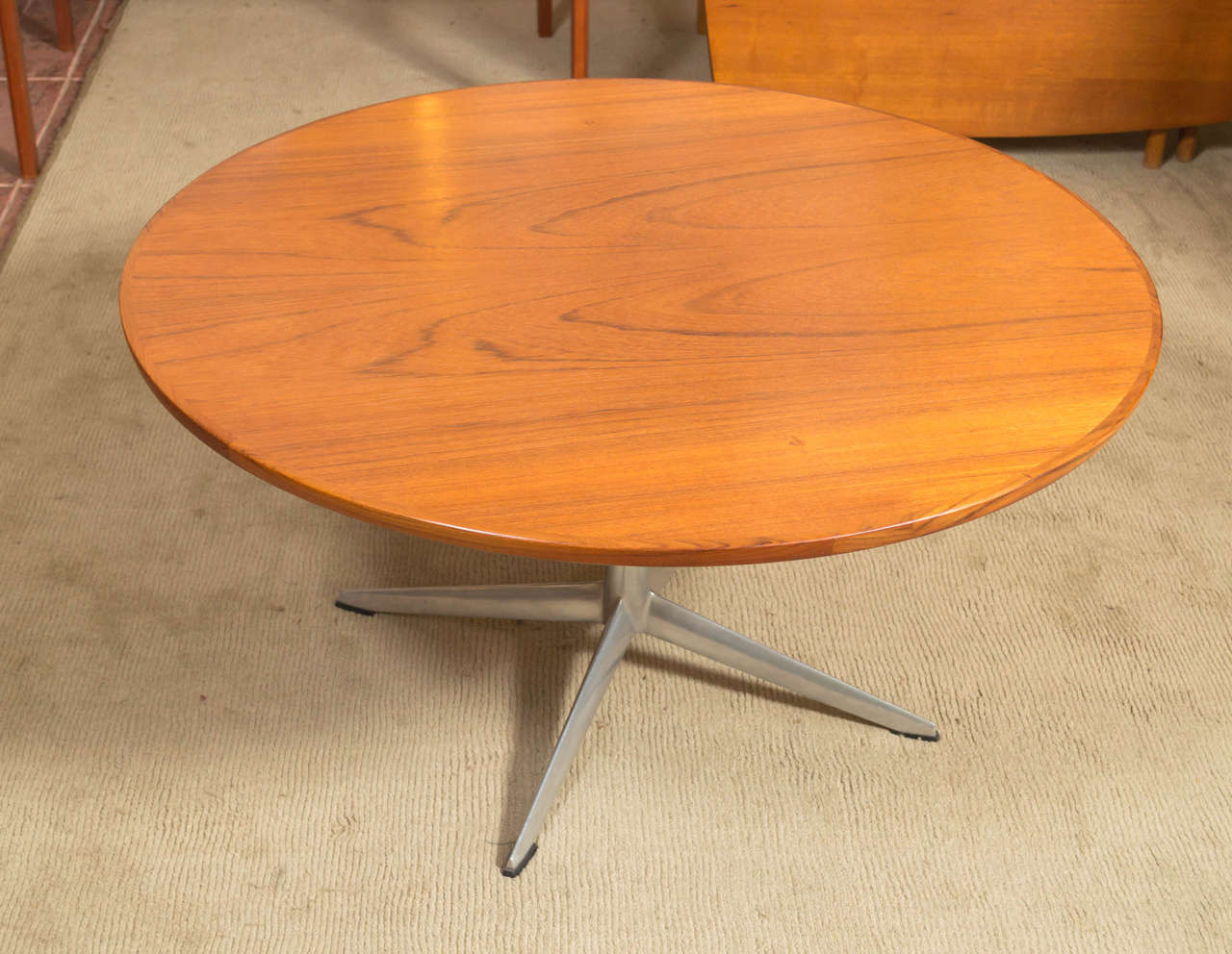 Danish H.W. Klein For Bramin Round Teak Coffee Table For Sale