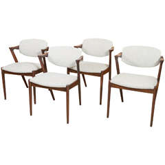 Set of Four Kai Kristiansen Rosewood Framed Dining Chairs