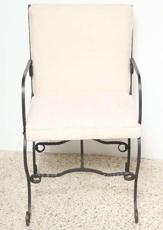 Great pair of Iron Chairs in the <br />