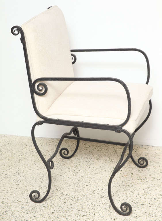 American Pair of Iron Chairs For Sale