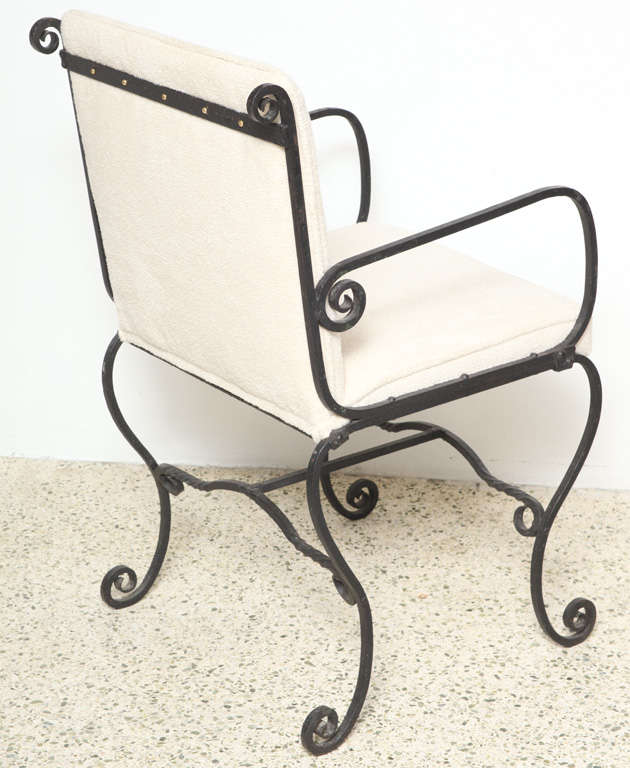 20th Century Pair of Iron Chairs For Sale