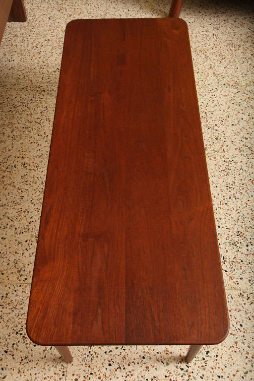 Mid-20th Century Exceptional Danish Solid Teak Longboard Coffee Table For Sale
