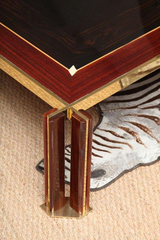 Italian Art Deco Macassar Ebony Coffee Table For Sale At