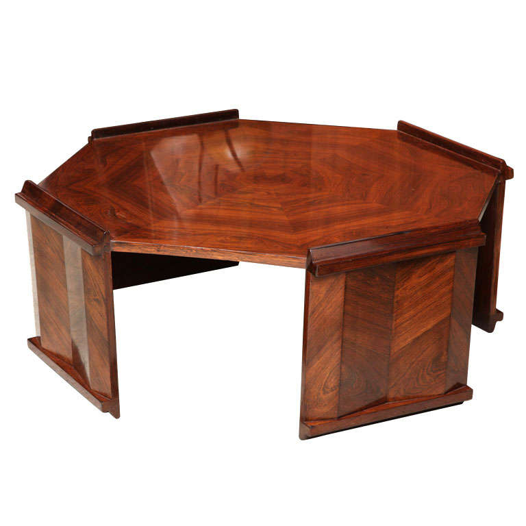 Fine Rosewood Late Art Deco Low Table France For Sale At