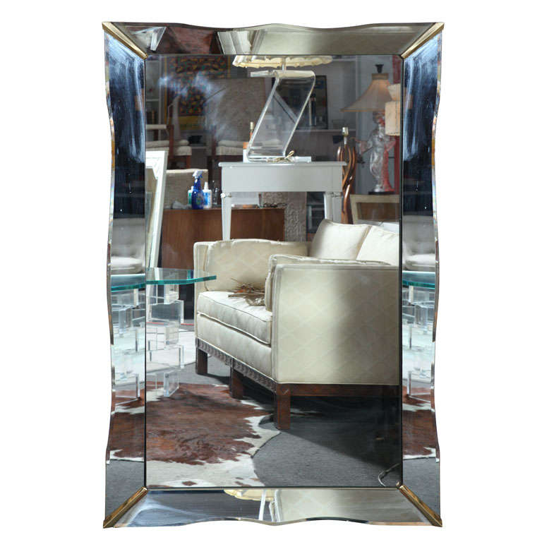 Art Deco rectangular mirror
