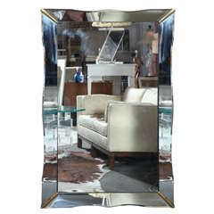 Art Deco rectangular mirror