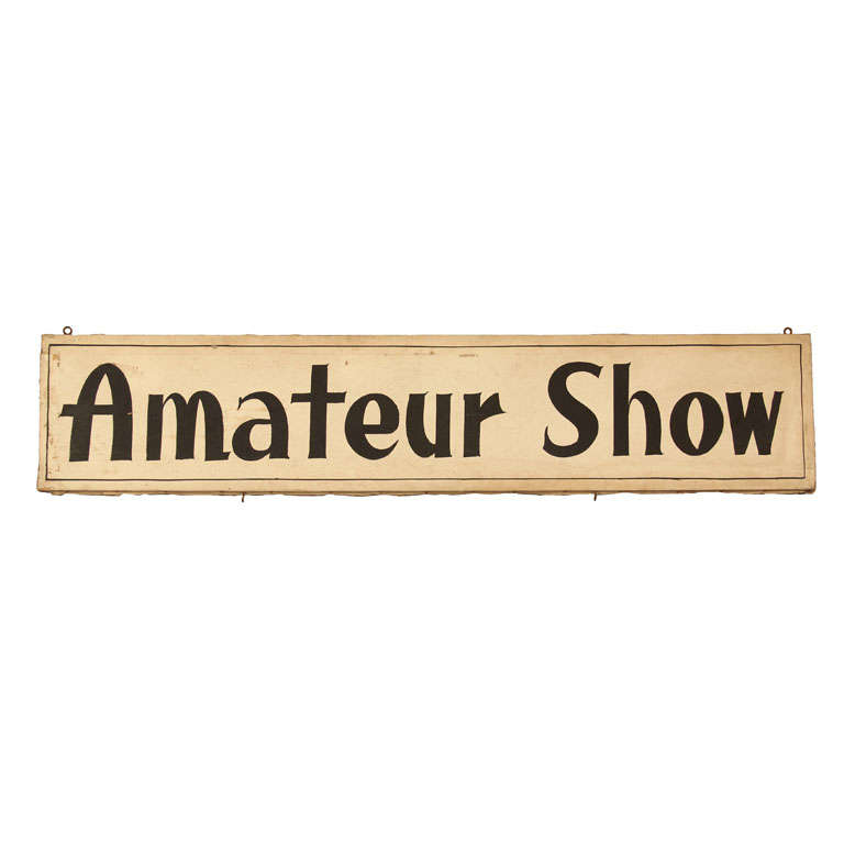 Hand-Painted Amateur Show Sign from Carnival Magic Show