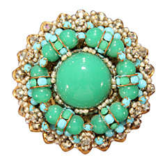 green/blue brooch