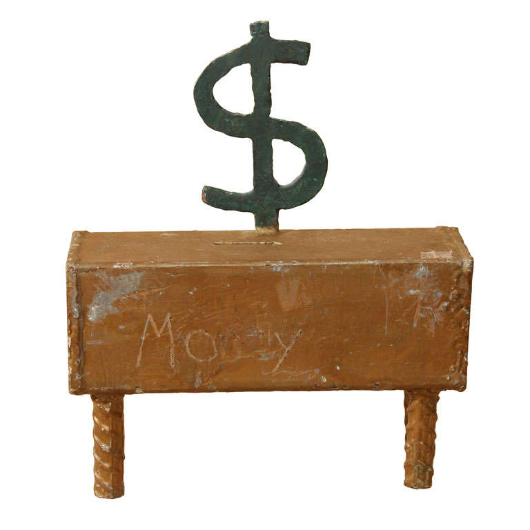 Saving for a rainy day folk art bank at 1stdibs for Furniture bank seattle