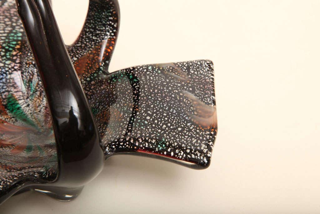 Mid-20th Century Italian Vintage Murano Avem Glass Bowl For Sale