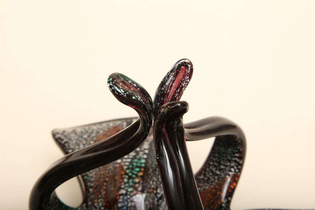Murano Glass Italian Vintage Murano Avem Glass Bowl For Sale