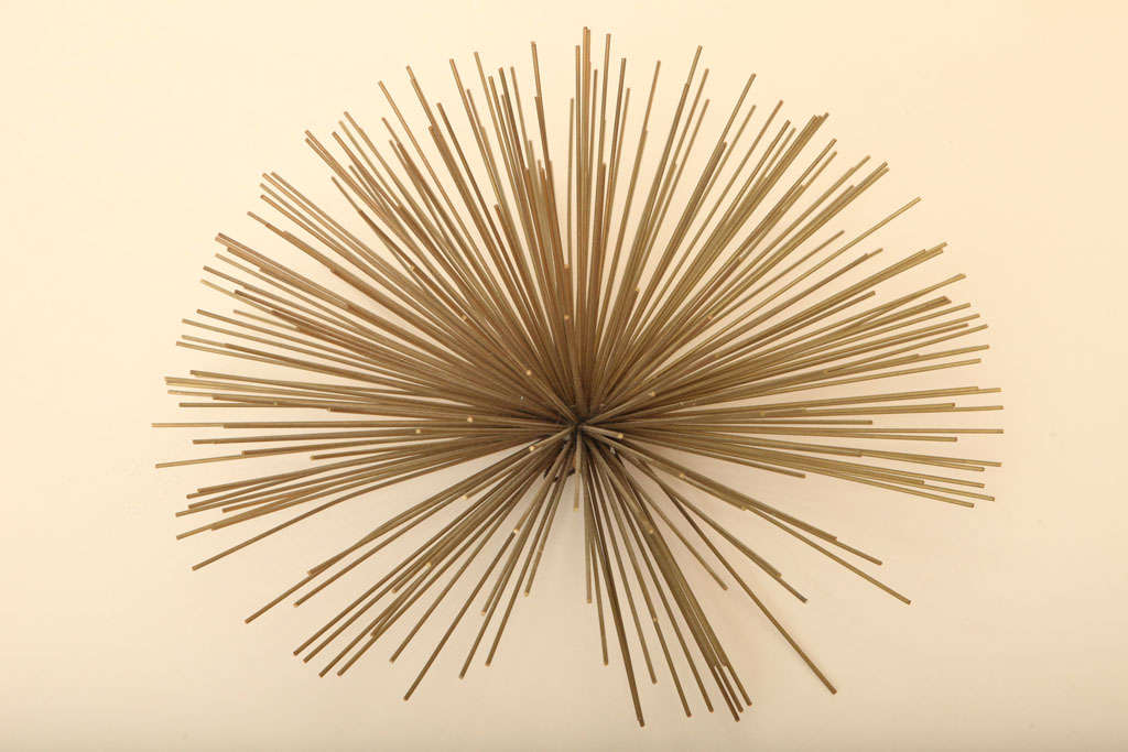 American Curtis Jere Small Starburst Metal Sculpture For Sale