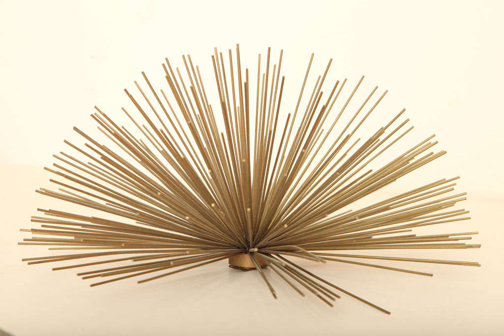 Late 20th Century Curtis Jere Small Starburst Metal Sculpture For Sale
