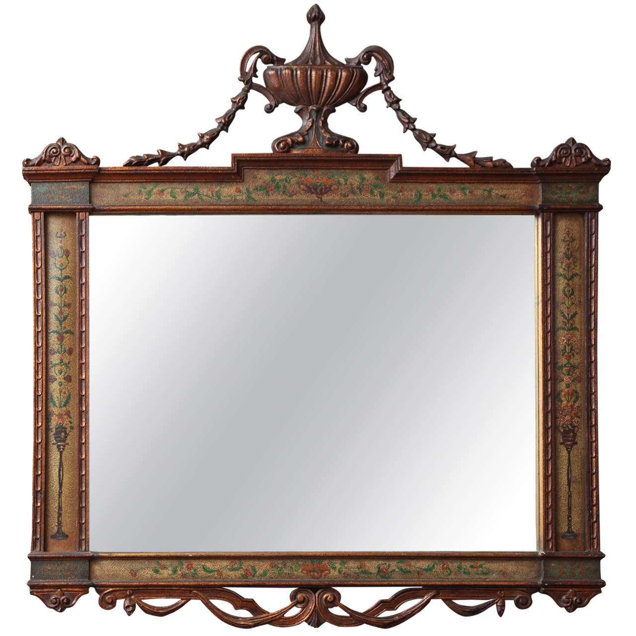 Antique english victorian carved mirror at 1stdibs for Fireplace mirrors