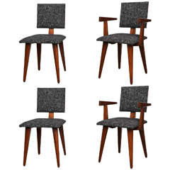 Set of Four Dining Chairs by Andre Sornay