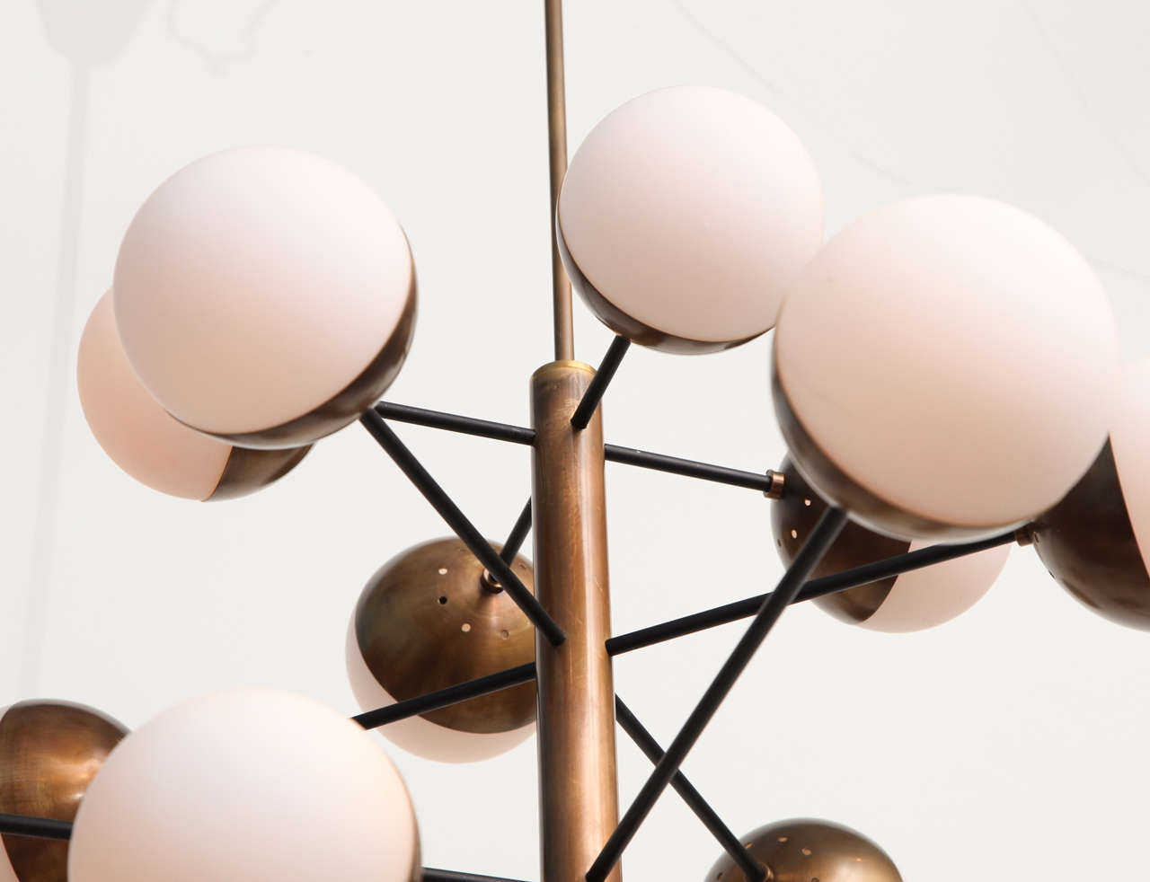 Rare 20-Light Chandelier by Stilnovo 3