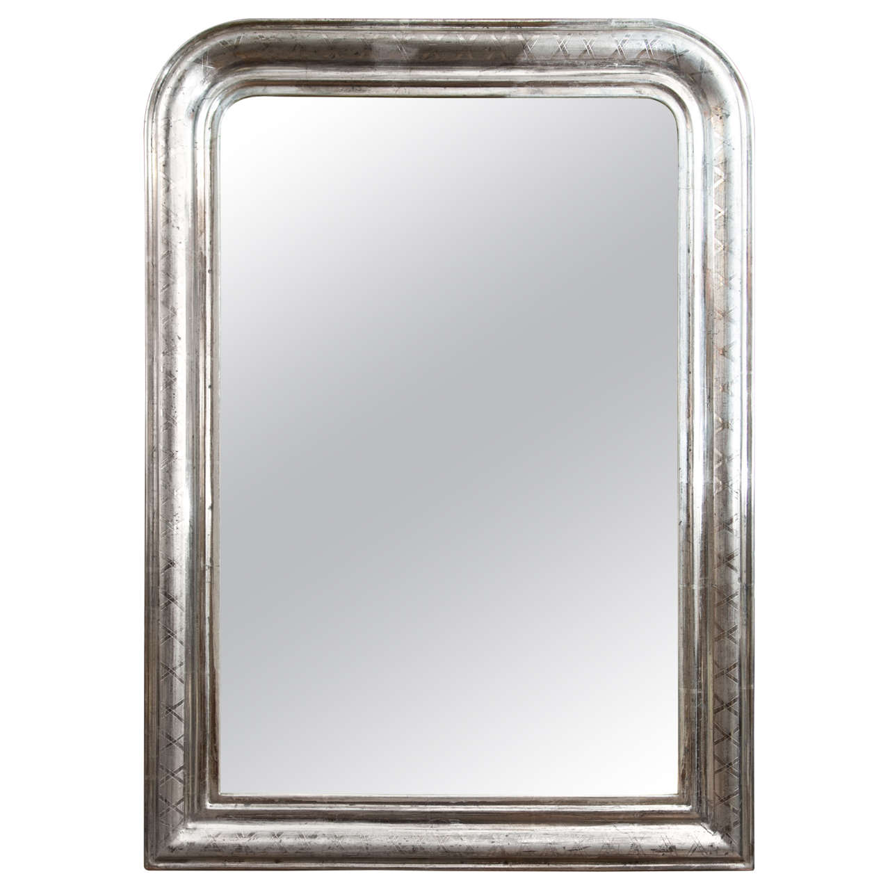 Louis philippe silver mirror for sale at 1stdibs for Silver mirrors for sale