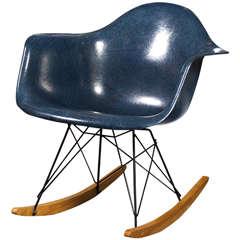 1960's Herman Miller RAR Indigo Rocker designed by Charles Eames