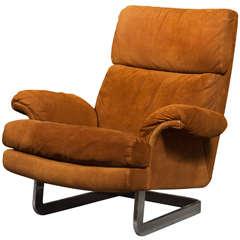1970's Metropolitan Suede Lounge Chair ***Saturday Sale***