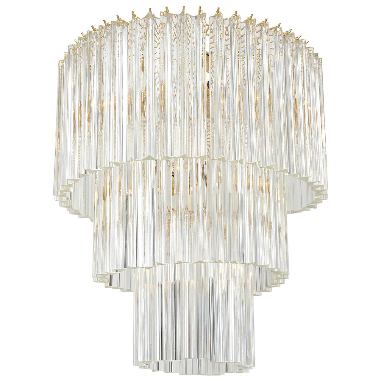 prism bronze of glass faceted light shades layered island products chandelier