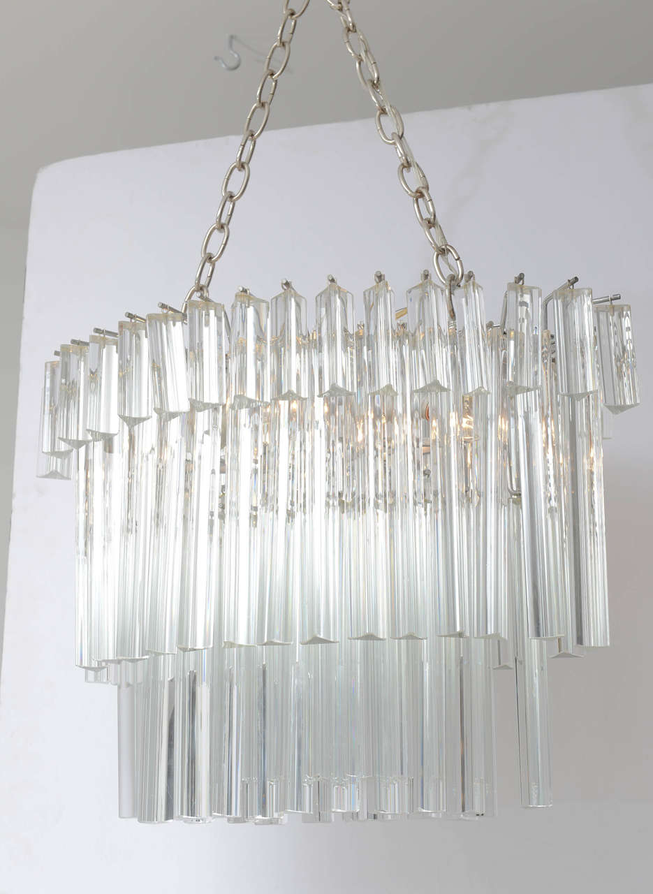 faceted bronze large light layered shades glass products prism chandelier of