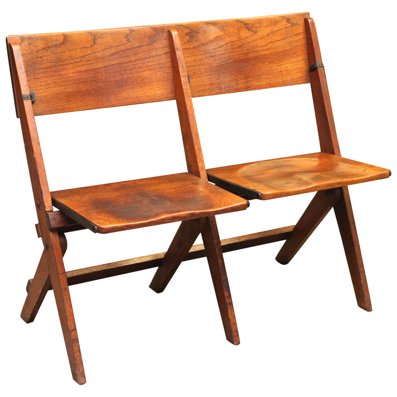 19th Century Double Folding Chair For Sale at 1stdibs