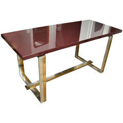 1970s French Dining Table in the Style of Jean Charles