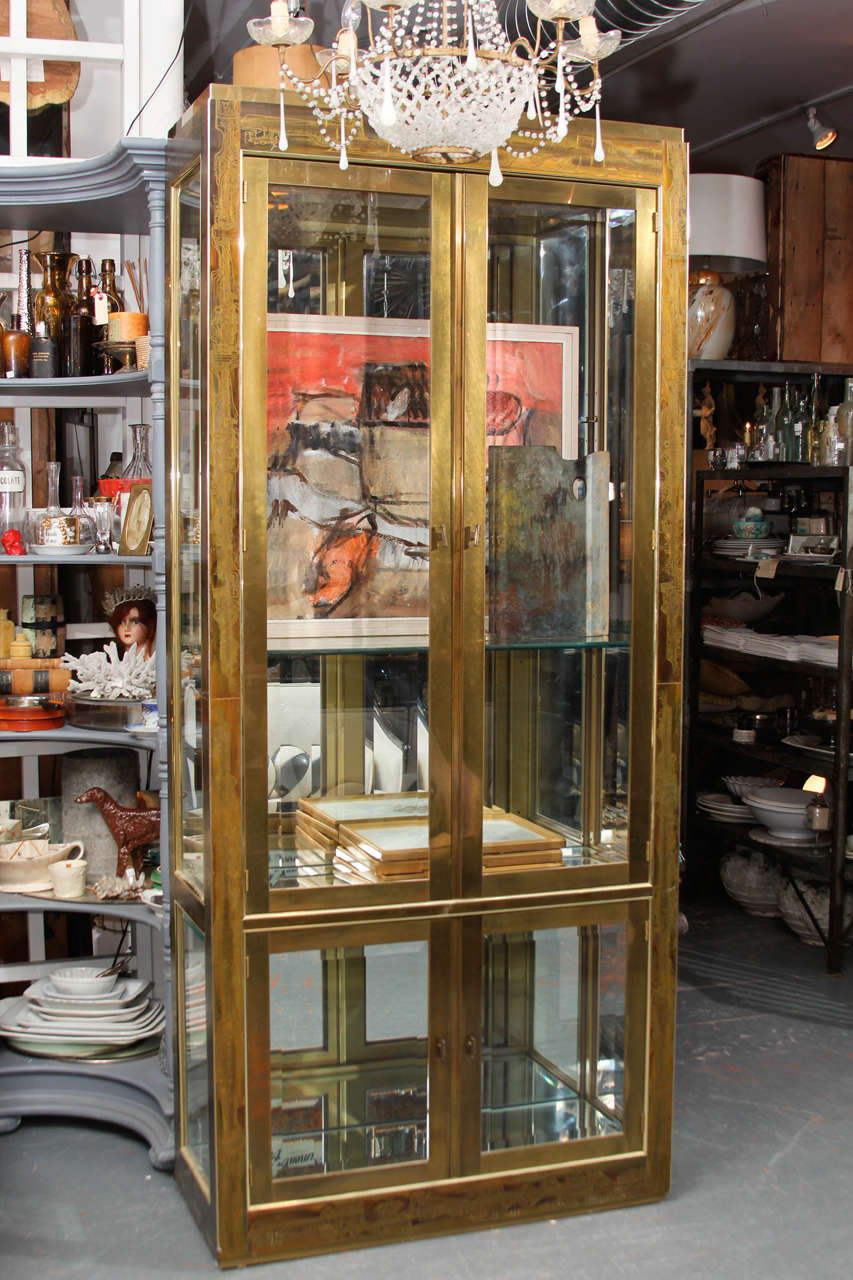 Bernhard Rohne Brass Vitrine In Good Condition For Sale In Seattle, WA