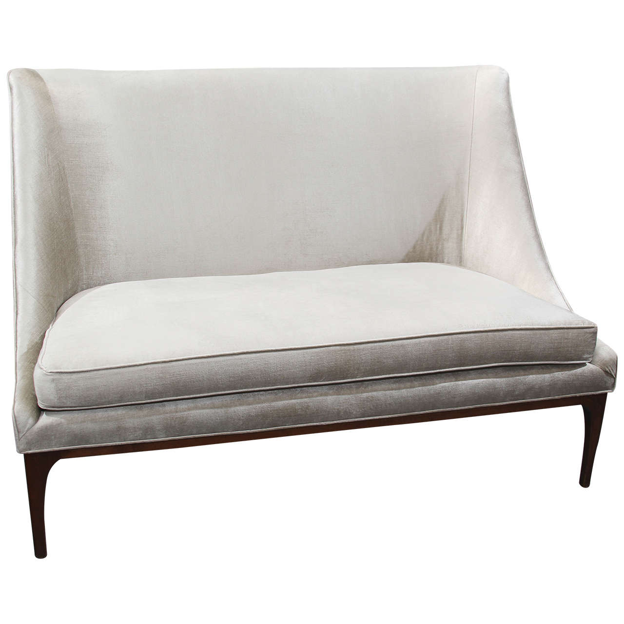 Silk Velvet Loveseat Or Small Sofa At 1stdibs