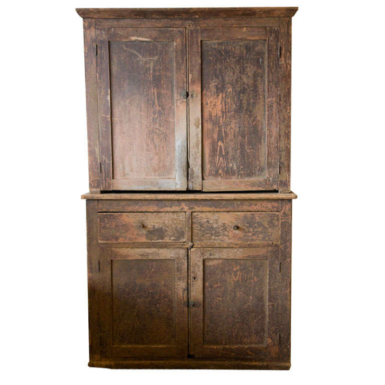 Early american hutch at 1stdibs for Early american kitchen cabinets