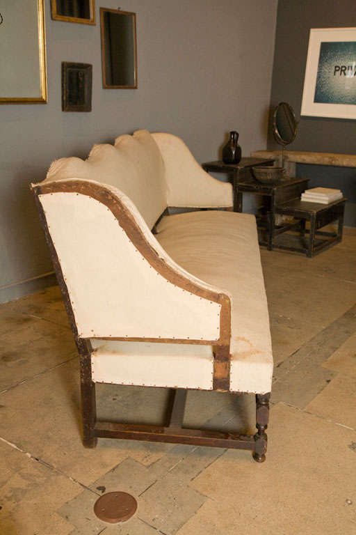 A oversized french canape sofa with walnut frame at 1stdibs for French canape sofa