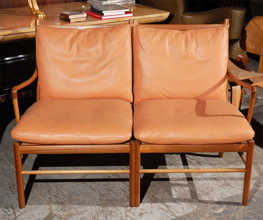 Mid-20th Century Ole Wanscher Two-Seat Settee For Sale