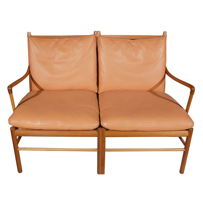 Ole wanscher two seater settee for sale at 1stdibs for Settees for sale