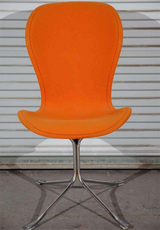 Chrome Pair of Ion Chairs For Sale