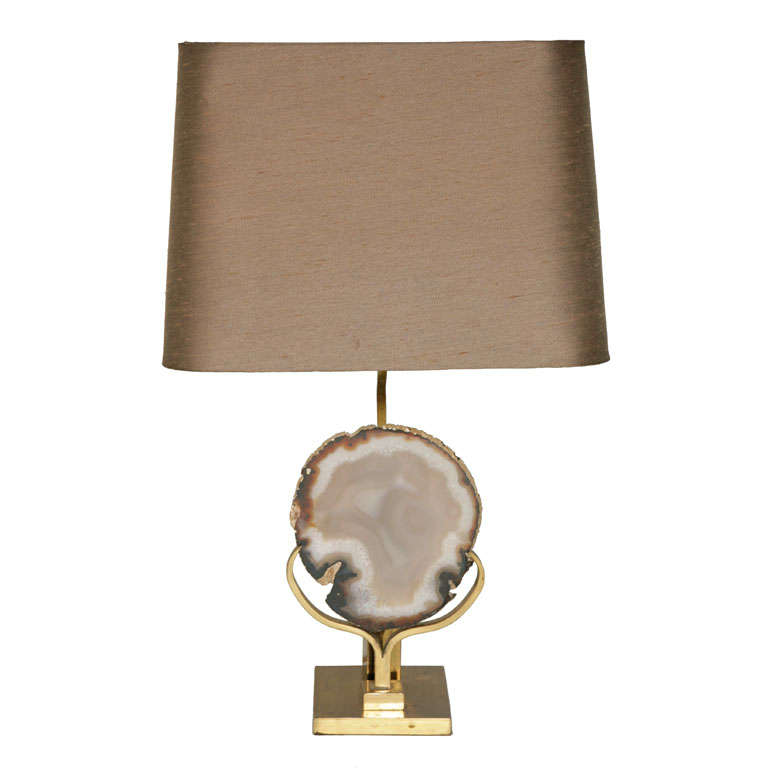Willy Daro Agate Table Lamp At 1stdibs