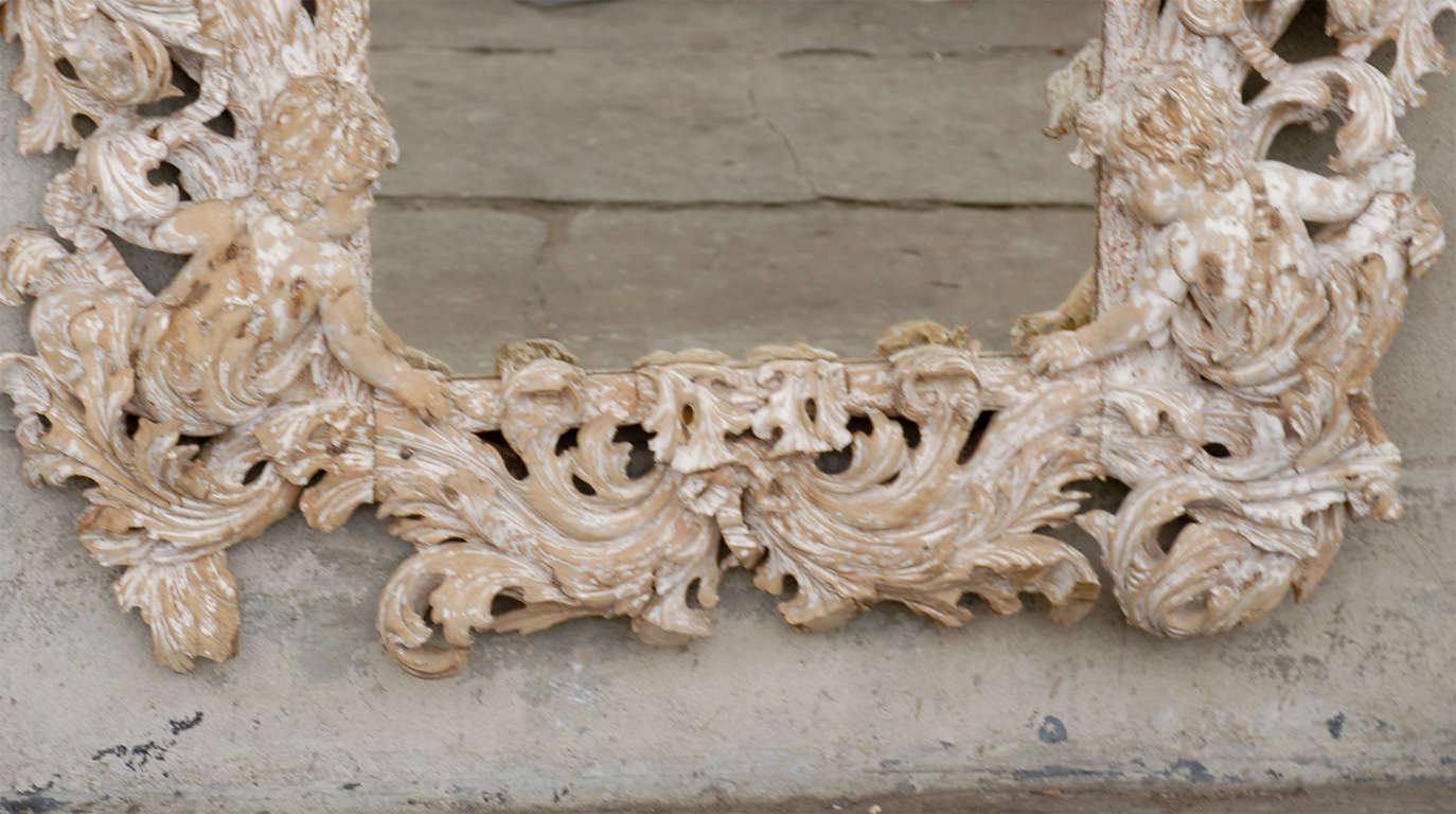 Italian 18th Century Carved Mirror  For Sale