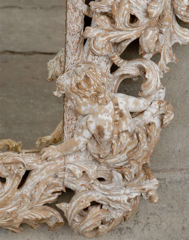 18th Century Carved Mirror  For Sale 1