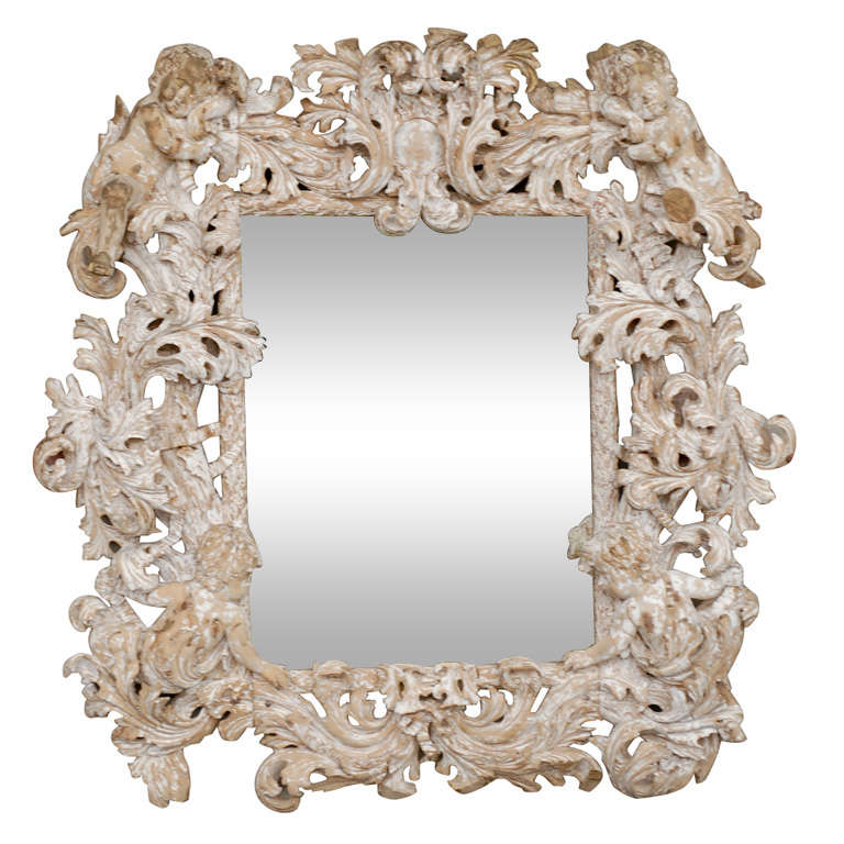 18th Century Carved Mirror  For Sale