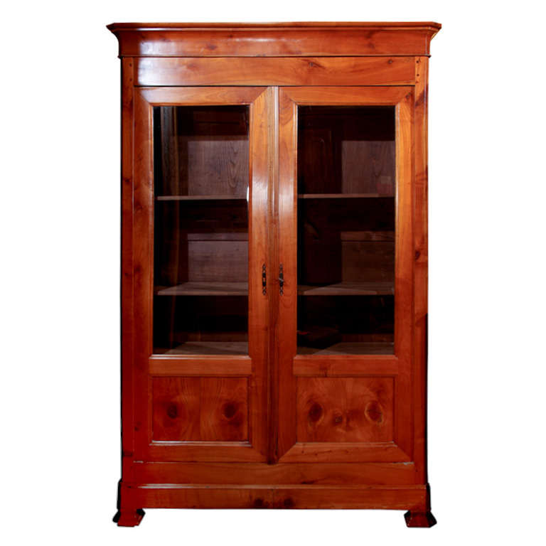 French cherry wood bookcase at stdibs