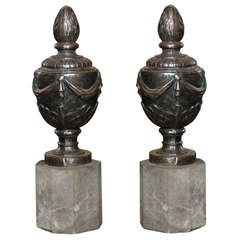 Pair of French Louis XVI Style Finials