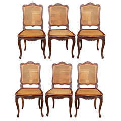 Set of 6 French Louis XV Style Side Chairs