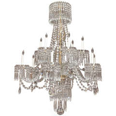 Antique French Belle Époque Finest Baccarat Crystal Chandelier