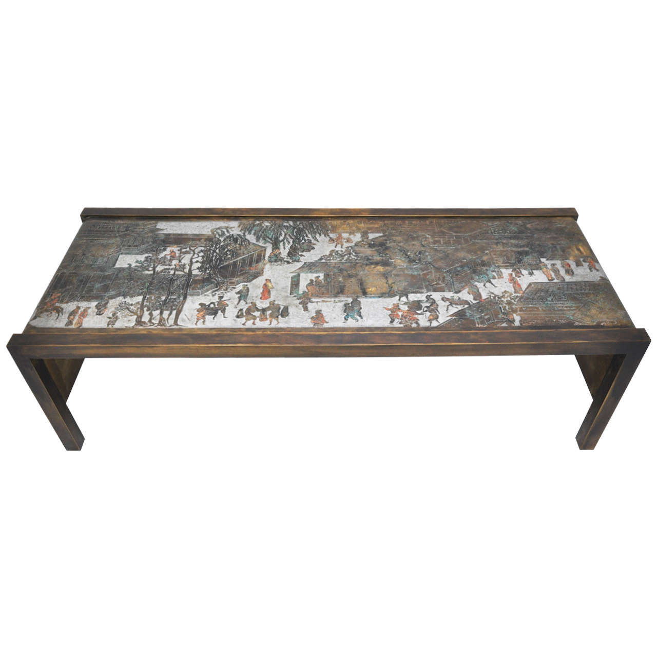Laverne Bronze Waterfall Cocktail Table At 1stdibs
