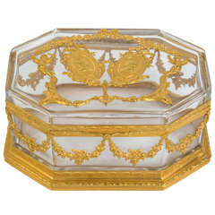 Gorgeous Crystal Box with Louis XVI and Marie Antoinette