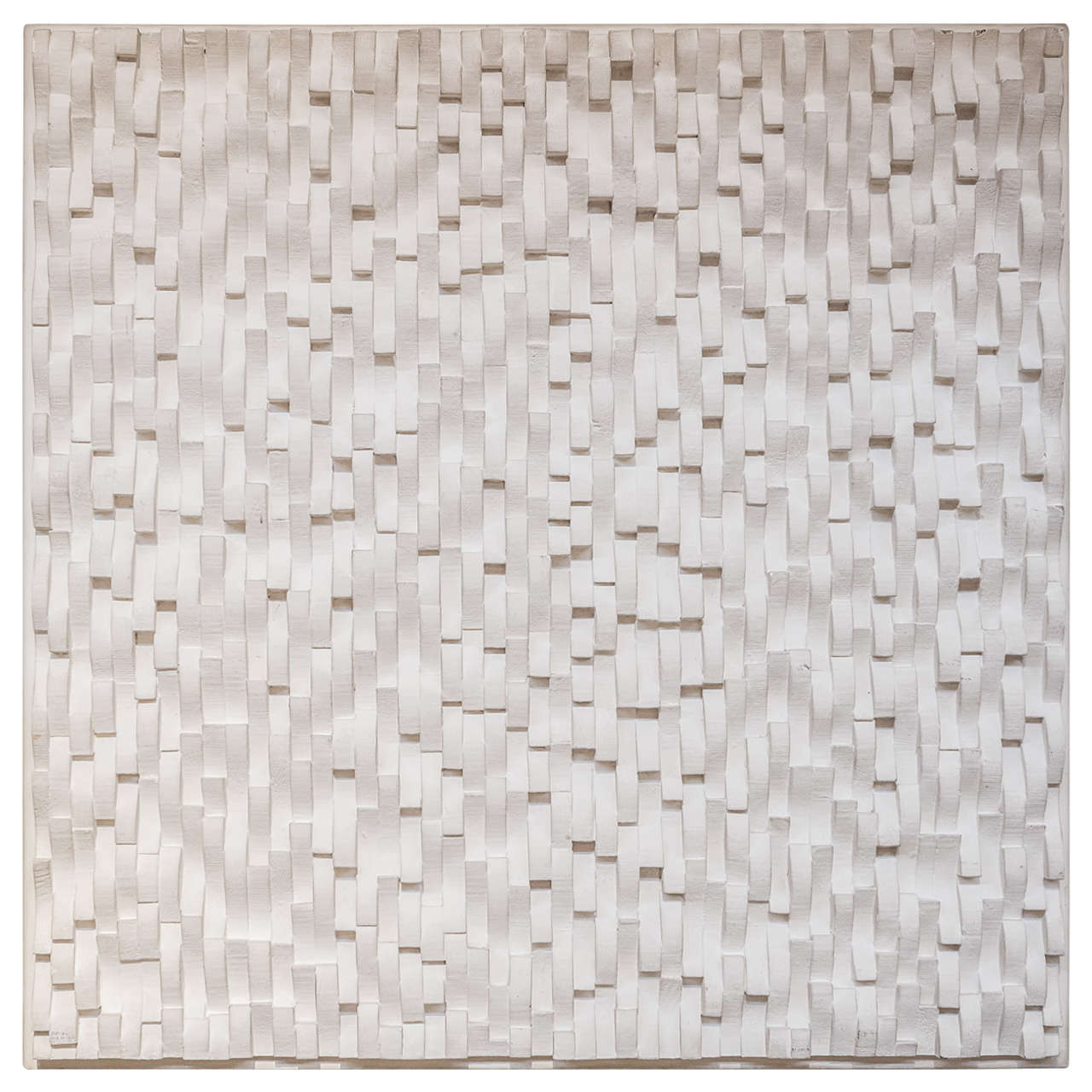John TOWNSEND Bas Relief In Wood Construction Painted In White At