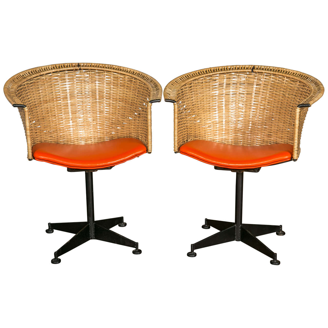 set of four space age swivel dining chairs by luigi tiengo circa