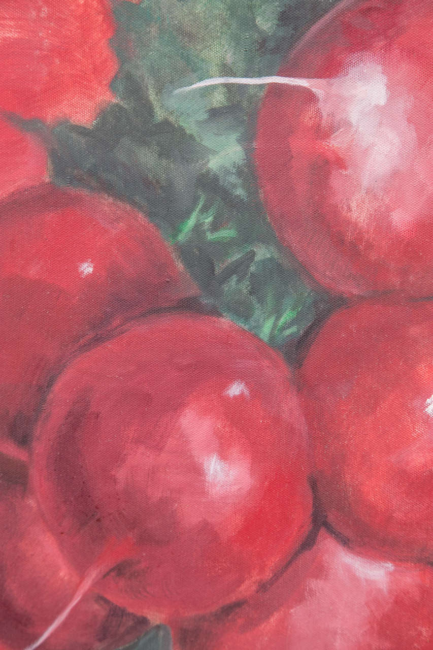 Mid-20th Century 1960s Radishes Painting by David Halpern For Sale
