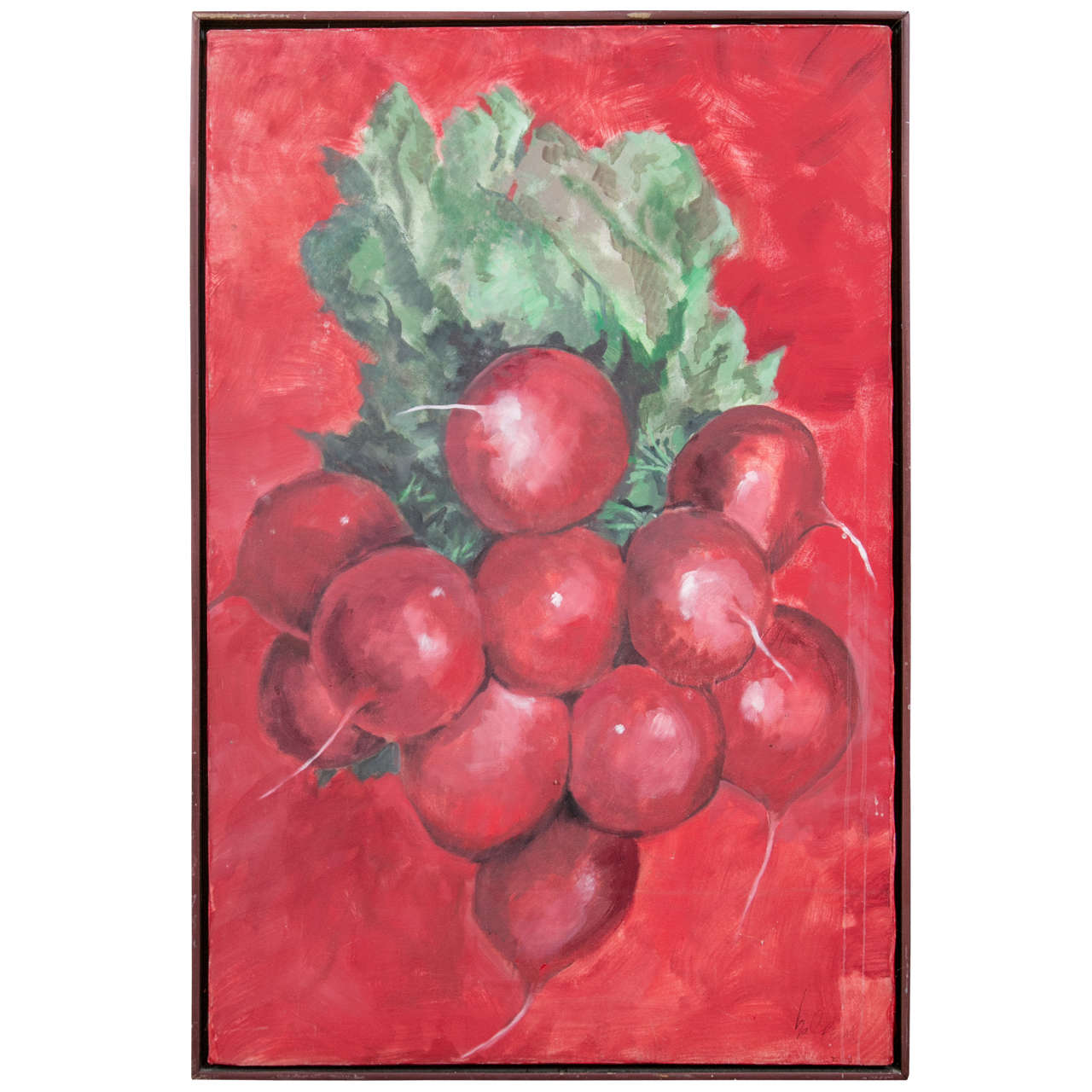 1960s Radishes Painting by David Halpern For Sale
