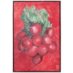 1960s Radishes Painting by David Halpern